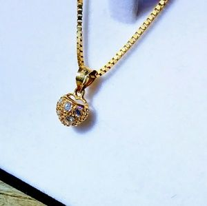 Jewelry - Gold aznd Diamonds Heart Necklace